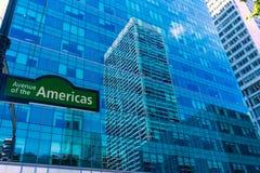 Manhattan New York City Las Amériques 6ème poids du commerce Photo stock