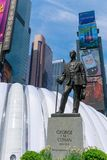 The statue of George m. Cohan with Street signs at Times Square, NYC. Manhattan, New York City - May 10, 2018 : The statue of George m. Cohan with Street signs Stock Photos