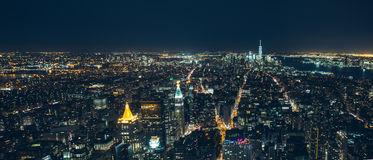 Manhattan new york city night Royalty Free Stock Photos