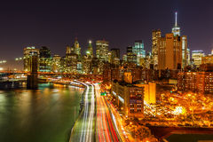 Manhattan, New York City, at night Royalty Free Stock Photo