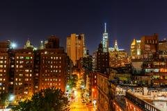 Manhattan, New York City, at night Stock Photos
