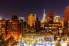 Manhattan, New York City, at night Stock Image