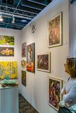Manhattan New York City, NY, Förenta staterna - April 7, 2019 Artexpo New York, modern och samtida konstshow, pir 90 NYC fotografering för bildbyråer