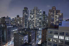 Manhattan New York City Rooftops Royalty Free Stock Images