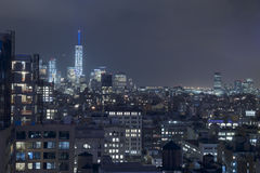 Manhattan New York City Rooftops Stock Image