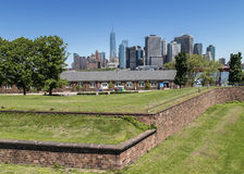 Manhattan, New York City seen from Fort Jay on Governors Island Royalty Free Stock Images