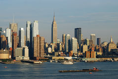 Manhattan New York City skyline Stock Images