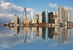 Manhattan, New York City skyline with Freedom Tower Royalty Free Stock Photos