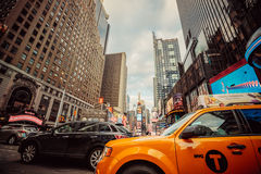 Manhattan, New York City. Traffic and busy life of Manhattan, NYC Stock Photography