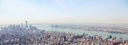 Manhattan, New York City, United States. Aerial view on the center of Manhattan, New York City, United States Royalty Free Stock Photos