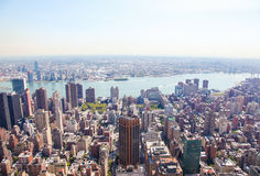 Manhattan, New York City, United States. Aerial view on the center of Manhattan, New York City, United States Royalty Free Stock Photography