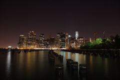 Manhattan. New York City. United states of America. Towers on Manhattan's Island at night. New York City stock photos