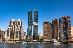 Skyscrapers of Murray Hill, Manhattan, NYC. Manhattan,New York City,USA - June 30, 2018 : Skyscrapers of Murray Hill view from the East River stock photography