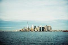 Manhattan, New York City. View of Manhattan, New York City stock images