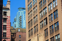 Manhattan New York downtown buildings textures Royalty Free Stock Image