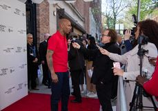 Tribeca Film Festival - Red Carpet before premiere of documentary ` Kid from Coney Island`. Manhattan, New York, east Village Cinema - April 27, 2019: Red Carpet stock photo