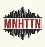 Manhattan New York graphic, t-shirt design, tee print, typograph Royalty Free Stock Image