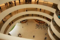 Manhattan, New York, USA, 07.19.2017: the Guggenheim Museum at Central Park royalty free stock image