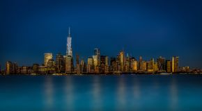 Manhattan New York horisont Royaltyfri Bild