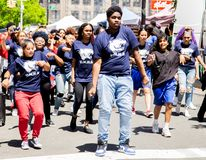 13th Annual New York City Dance Parade and Festival 2019 stock photography