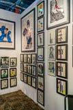 Manhattan, New York, NY, Stati Uniti - manifestazione moderna e di arte contemporanea 7 aprile 2019 di Artexpo New York, pilastro fotografia stock libera da diritti