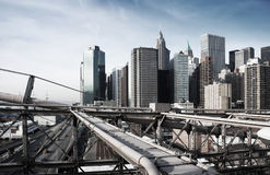 Manhattan, New York, rough industrial toning Royalty Free Stock Image