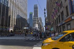 Manhattan, New York. Seventh Avenue. Royalty Free Stock Photos