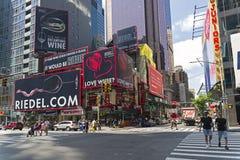 manhattan New York Sjunde aveny Arkivfoton