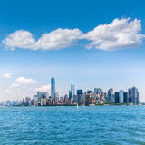 Manhattan New York skyline from NY bay in US Royalty Free Stock Image