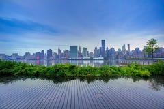 Manhattan New York skyline at sunset East River Royalty Free Stock Image