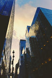 Manhattan New York street featuring skyscapers Royalty Free Stock Photography