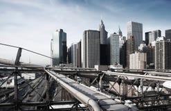 Manhattan, New York, tonalità industriale approssimativa immagine stock libera da diritti