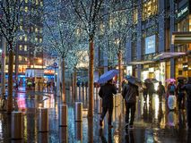 Manhattan, New York, United States of America - Jan 3 2015: People in front of the Time Warner Center stock images