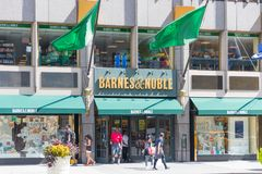 Barnes and Noble store exterior. MANHATTAN, New York, United States, August 18, 2018:Times Square, Barnes and Noble store exterior. Barnes & Noble Booksellers Royalty Free Stock Photos