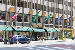 Barnes and Noble store exterior. MANHATTAN, New York, United States, August 18, 2018:Times Square, Barnes and Noble store exterior. Barnes & Noble Booksellers Stock Images