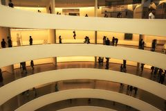 Manhattan, New York, USA, 07.19.2017: the Guggenheim Museum  inside  at Central Park Royalty Free Stock Images