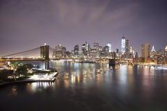 Manhattan. New York. Usa. Towers on Manhattan's Island on the sun rise. New York City Royalty Free Stock Photography