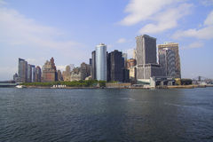 Manhattan New York view from the ferry Royalty Free Stock Image