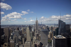 Manhattan - New york - Vue depuis le top of the rock. Empire state building vue depuis le top of the rock stock photos