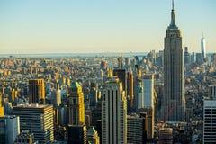 Manhattan - New Yorkstad - USA Arkivbild
