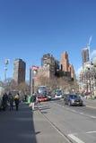 Manhattan nieba cykliny nowi usa York fotografia stock