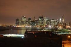 Manhattan by night Stock Photography