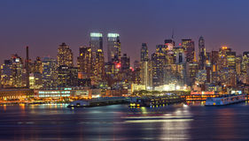 Manhattan at night Royalty Free Stock Image