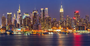Manhattan at night Stock Image