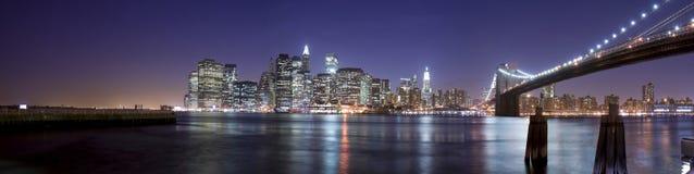 Manhattan at night Stock Images