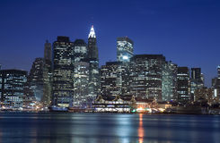 Manhattan at night Royalty Free Stock Photography