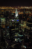 Manhattan by night. Birds eye view of New York from the Empire State Building Observatory Stock Photography