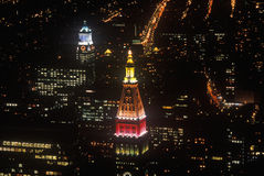 Manhattan at night from Empire State Building, New York City, NY Stock Photo