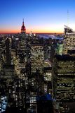 Manhattan at night, New York Royalty Free Stock Photography