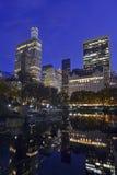 Manhattan at night, New York City Stock Photos